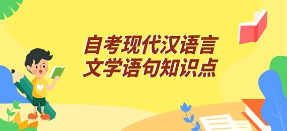 自考现代汉语言文学语句知识点