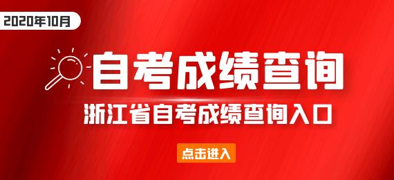 浙江省2020年10月自考成绩查询入口网址